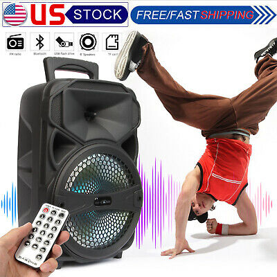 $38.99 • Buy 8  Party Bluetooth Speaker 1000 Watts System Led Portable Stereo Tailgate Remote