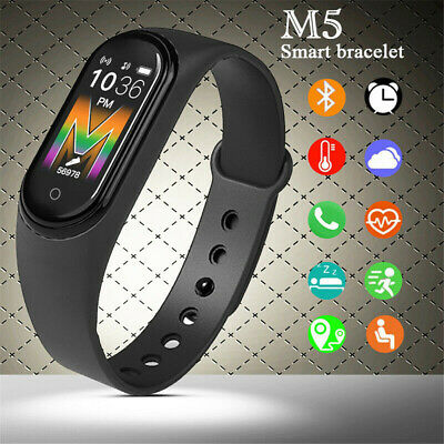 AU13.95 • Buy M5 Smart Watch Bluetooth Heart Rate Blood Pressure Waterproof For Android IOS AU