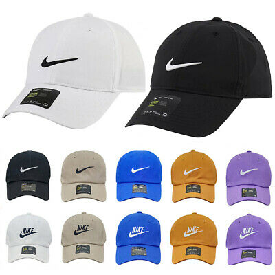 Women Mens Baseball Caps Swoosh Metal Logo Sports Adjustable Hats • 6.70£