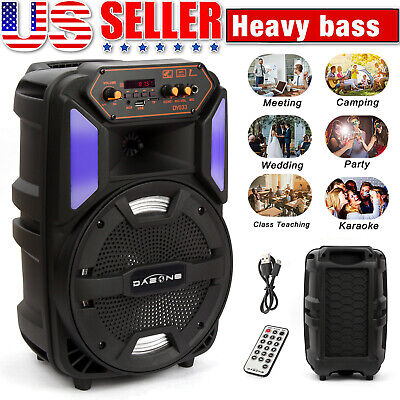 $42.99 • Buy 8  1000W Portable Bluetooth Speaker Sound System Party Stereo Wireless LED Light