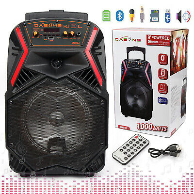 $49.99 • Buy 8  Portable Bluetooth Party Speaker Subwoofer Heavy Bass Sound System 1000 Watts