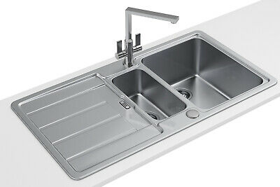 £175.19 • Buy Franke Hydros HDX 654 Stainless Steel 1.5 Bowl Kitchen Inset Sink 101.0314.564