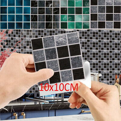 30X Mosaic Tile Stickers Stick On Bathroom Kitchen Home Wall Decal Self-adhesive • 5.46£