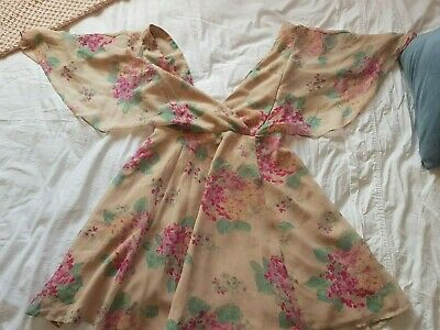 AU24 • Buy Light Pink Floral ASOS Dress UK Size 10