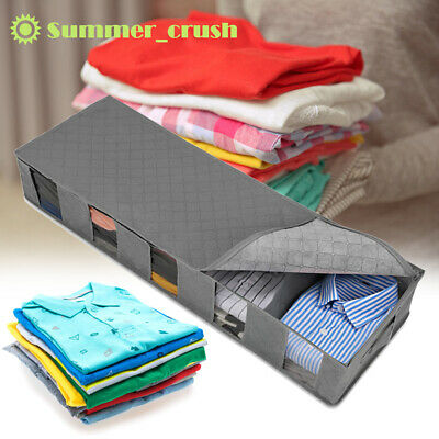 Under Bed Large Capacity 5 Compartments Storage Box Clothes Shoes Organizer Bag • 5.29£
