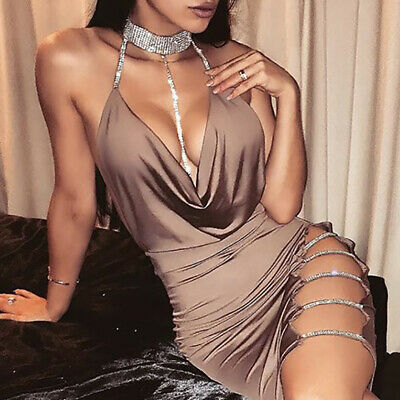 AU18.78 • Buy Sexy Deep V Women's Bandage Bodycon Evening Party Cocktail Club Short Dress AU S