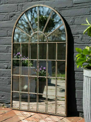£74.99 • Buy Large Garden Arch Mirror Gothic Rustic Window Pane Wall Hanging Outdoor Decor