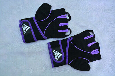 £9.95 • Buy New Adidas Half Finger Gym Gloves Workout Fitness Weight Lifting Gloves