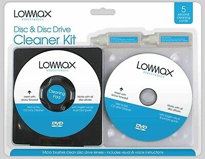 £8.39 • Buy Laser Lens Cleaner Cleaning Kit For Ps3 Xbox 360 Blu Ray DVD Player CD Disc