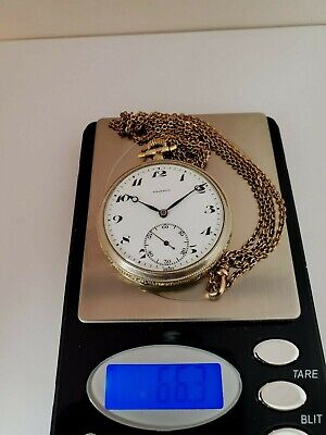$850 • Buy Antique Majestic 2 Tone Pocket Watch  With Chain Gold