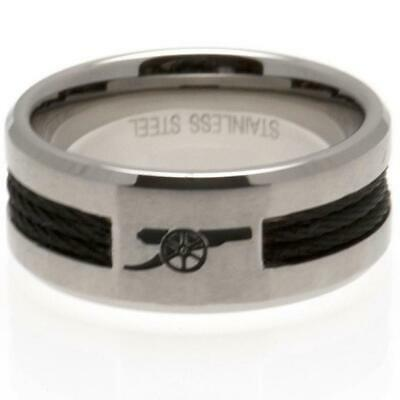 £19.95 • Buy Arsenal FC Black Inlay Ring Large Official Licensed Product