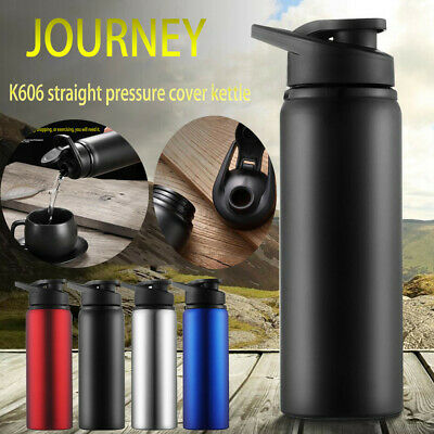AU15.85 • Buy Cold Kettle Portable Stainless Steel Sports Bottle Straight Drink Bicycle Travel