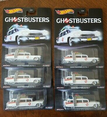 HOT WHEELS PREMIUM GHOSTBUSTERS ECTO-1 WITH REAL RIDERS! Lot Of 6 • 21.70£