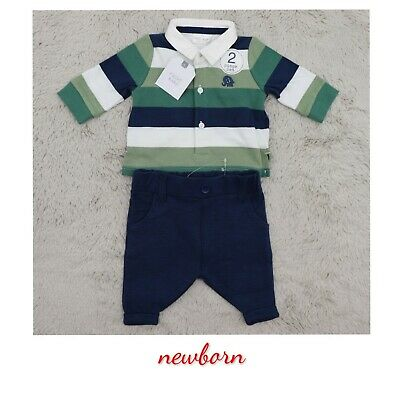 £12.90 • Buy NEXT Rugby Bodysuit & Chino Set Smart Outfit Baby Boys Navy First Size Newborn