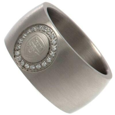 £29.95 • Buy Arsenal FC Stone Set Ring Medium Official Licensed Product