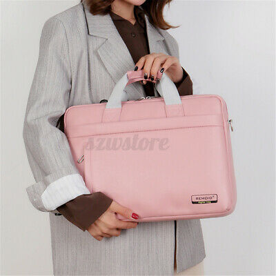 UK Women Leather 15.6'' Laptop Handbag Lady Briefcase Travel Shoulder Bag Tote • 16.81£