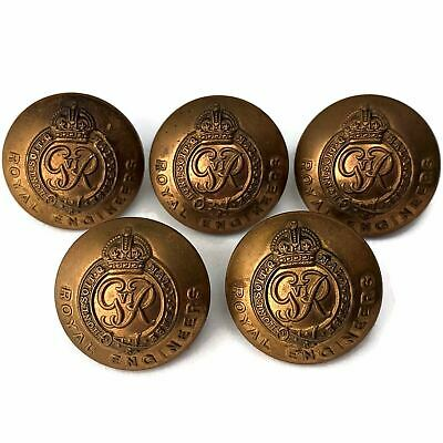 £14.99 • Buy WW2 Royal Engineers Corps (George VI) Tunic Buttons Group X5 26mm - PV75