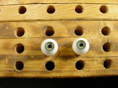£12 • Buy A Pair Vintage Glass Eyes Size 16 Mm Age 1910 For Dolls Or Bears Lauscha A 4702