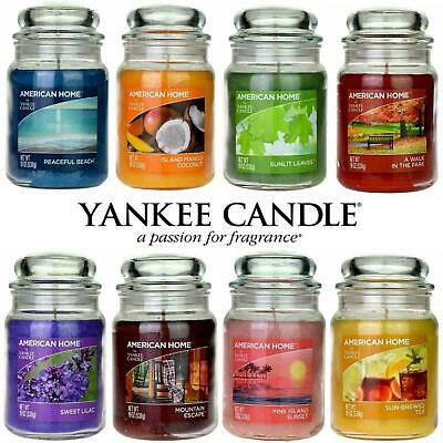 £14.95 • Buy Yankee Candle Scented Fragrance Candles American Home Large 19oz Glass Jar 538g