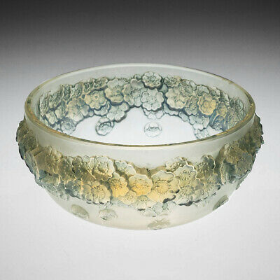 Rene Lalique Opalescent Frosted And Blue Stained Primeveres Bowl Designed 1930 • 521£