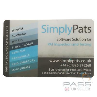 £82.80 • Buy Simply Pats Manual Entry PAT Testing Software -  Create Database Of PAT Results
