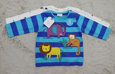Next 6-9 Months Beautiful Baby Boy Grey Long Sleeve T-shirts 3 Pack RRP £14