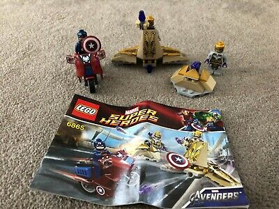Lego Super Heroes Captain Americas Cycle Set 6865 Complete Instructions (#37) • 10£
