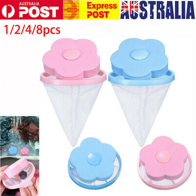AU8.98 • Buy Washing Machine Filter Bag Floating Lint Hair Catcher Mesh Pouch Laundry Tool