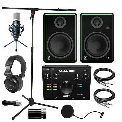 $419.40 • Buy M-Audio AIR192X4 USB Audio Recording Interface W Microphone, 5  Monitor Speakers
