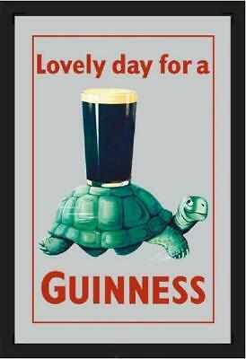 £11.66 • Buy Guinness Turtle Beer Mirror Wall Mirror, BAR, Party Basement, BAR, 30cm