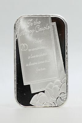 2021 Happy Couple Wedding Day 999 Silver 1 Oz Medal Ingot Bar Gift Newlyweds • 35.73£