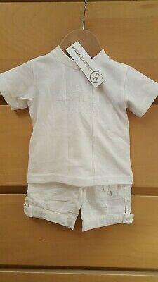 £6.95 • Buy Baby Boy 3 Months Jean Bourget Designer Boutique Outfit Top & Shorts Bnwt New