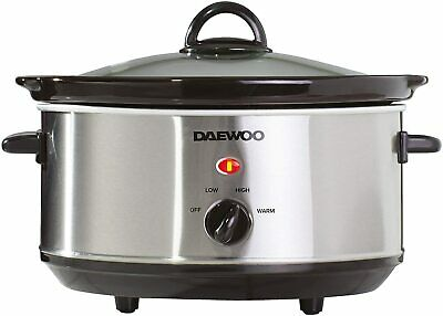 £21.99 • Buy Daewoo Electric Slow Cooker 3.5L Stainless Steel Non Stick Bowl Crock Pot