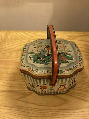 Vintage George W Horner Sweet Tin With Handle Wooden Dolls Collectable • 13£