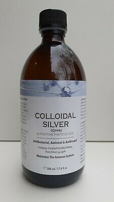 Colloidal Silver 500ml (glass Bottle) - Immune Support/Anti-Viral/Bacterial • 14.50£