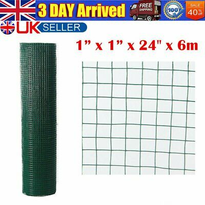 Fencing Mesh Garden Green PVC Coated Galvanised Fence Chicken Wire Aviary Posts • 28.99£