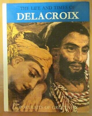 The Life And Times Of Delacroix, Vintage Book, Coloured Illustration • 3.20£