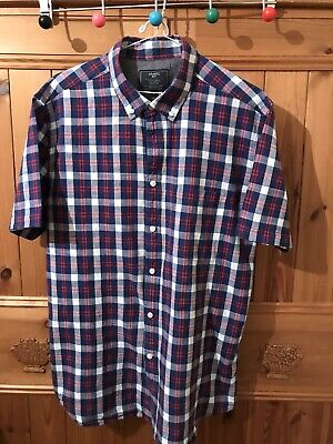 Atlantic Bay Textured Cotton Shirt Size Large 46 Chest  Used • 7.45£