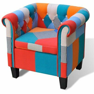 AU195.95 • Buy NEW VdaXL Armchair With Patchwork Design Fabric French Style Sofa Seat Lounge