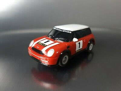 Micro Scalextric Car BMW Mini Rally Challenge No1 Working 1:64  Free Postage • 10£