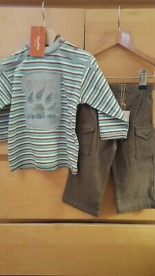 £6.95 • Buy Baby Boy 12 Months Designer Outfit Marese Top Berlingot Trousers Bnwt New