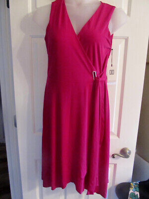 $ CDN50.63 • Buy NEW $118 Ivanka Trump Faux Wrap Summer Cocktail Dress SIZE M Medium 8 10