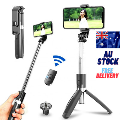 AU15.98 • Buy Selfie Stick Handheld Tripod Bluetooth Remote 360 For Samsung Android IPhone IOS
