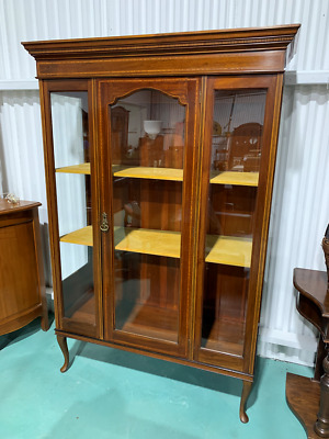 AU850 • Buy H7020 Vintage Sheraton Style China Cabinet Display Cupboard