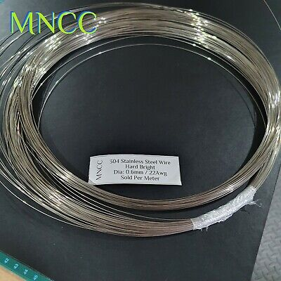 AU17.99 • Buy 1m - 10m Stainless Steel Wire 0.6mm 22awg Single Strand Hard Bright Spring Steel
