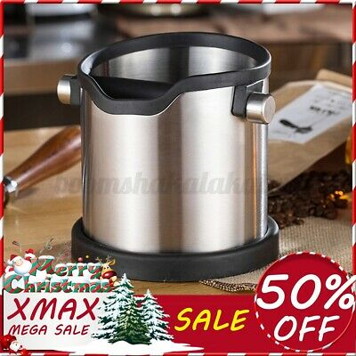 AU30.18 • Buy Coffee Knock Box Stainless Steel Coffee Grind Espresso Bin Container Xmas Gifts