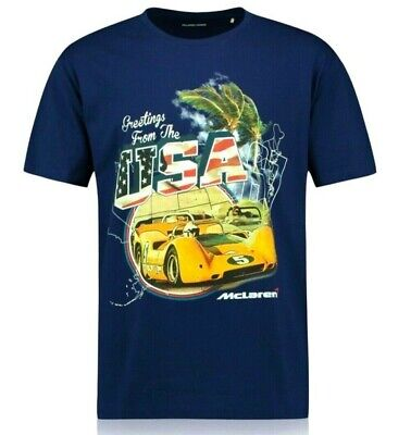 McLaren F1 Offical T-shirts Greeting From USA,AUSTRALIA,CANDA With Tags Large • 8.99£