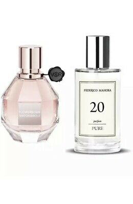 FM 20  Flower Bomb Pure Collection Federico Mahora Perfume For Women 50ml • 14.50£