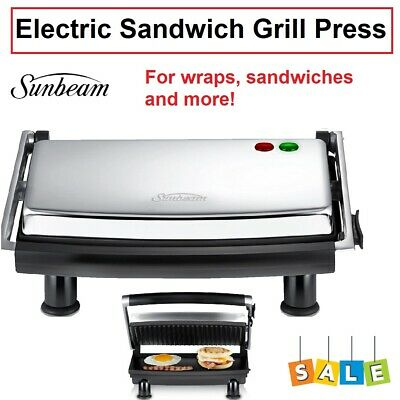 AU62.90 • Buy Sunbeam Grilled Sandwich Press Grill Maker Toasted Cheese Toastie Toaster Wrap