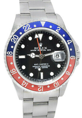 $ CDN15782.51 • Buy Rolex GMT-Master II Steel Red/BlUE  Pepsi  Bezel Mens 40mm Watch Z 16710